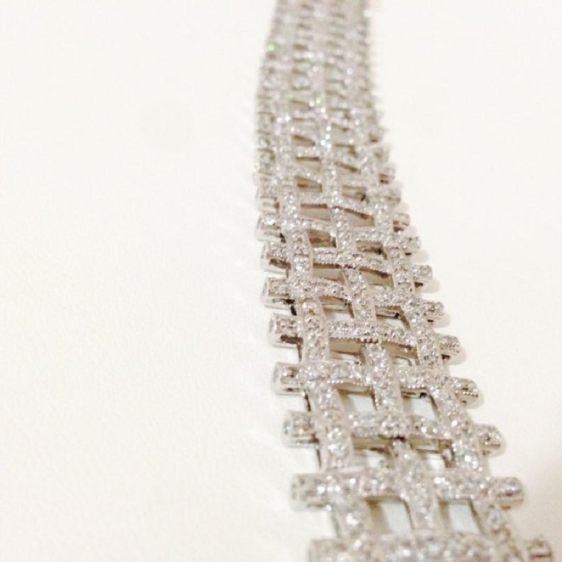 5 CARAT DIAMOND BRACELET SET IN 14K WHITE GOLD $17,750 - 3