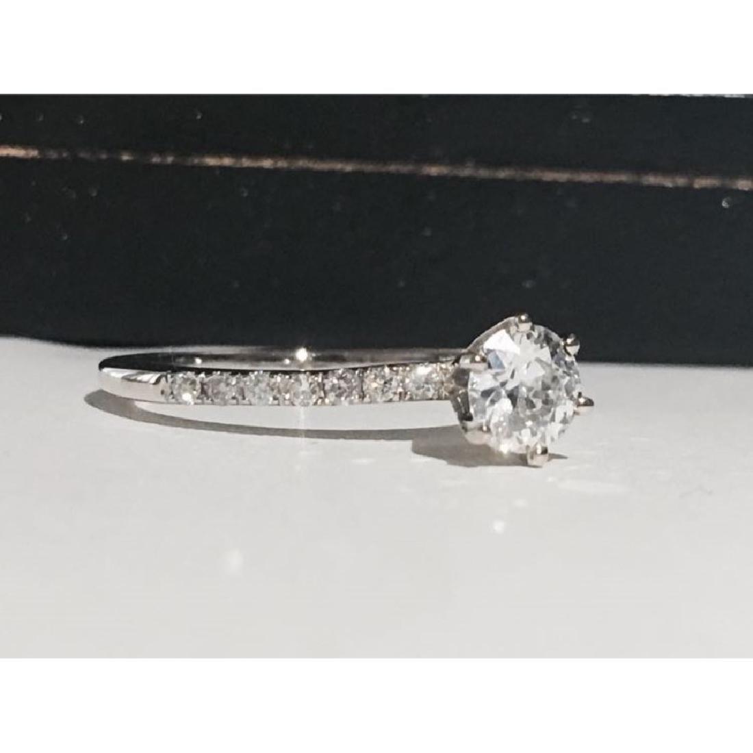 14K White Gold, 0.80CT VS/G Diamond Engagement Ring - 2