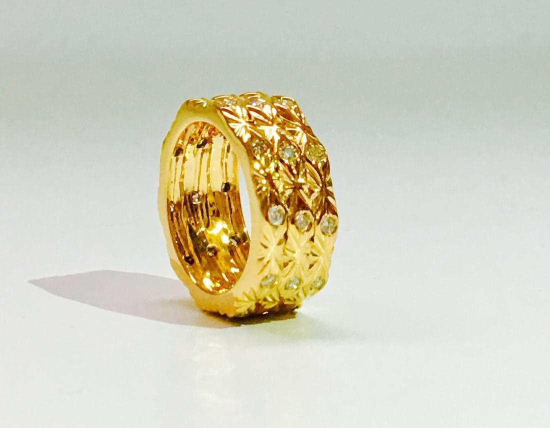 18K yellow gold. 0.75 Carat Diamond ring. BVLGARI style - 2