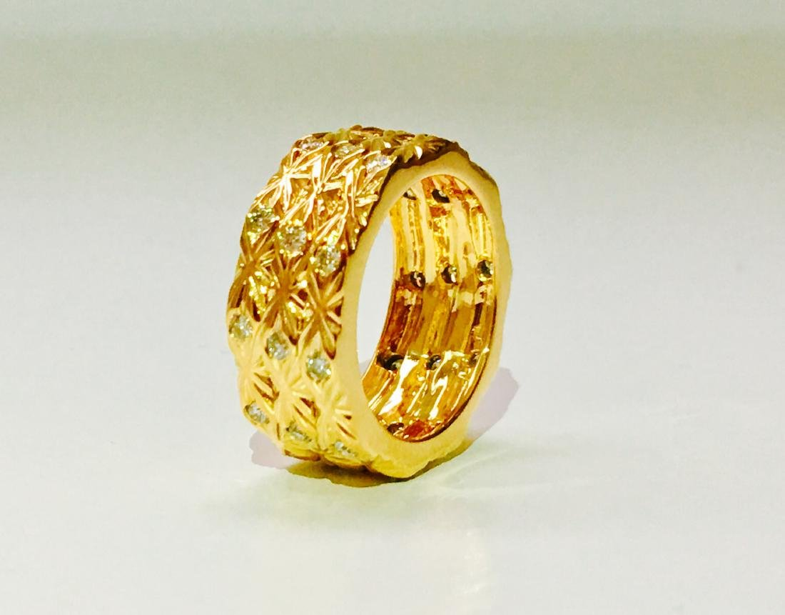 18K yellow gold. 0.75 Carat Diamond ring. BVLGARI style - 3