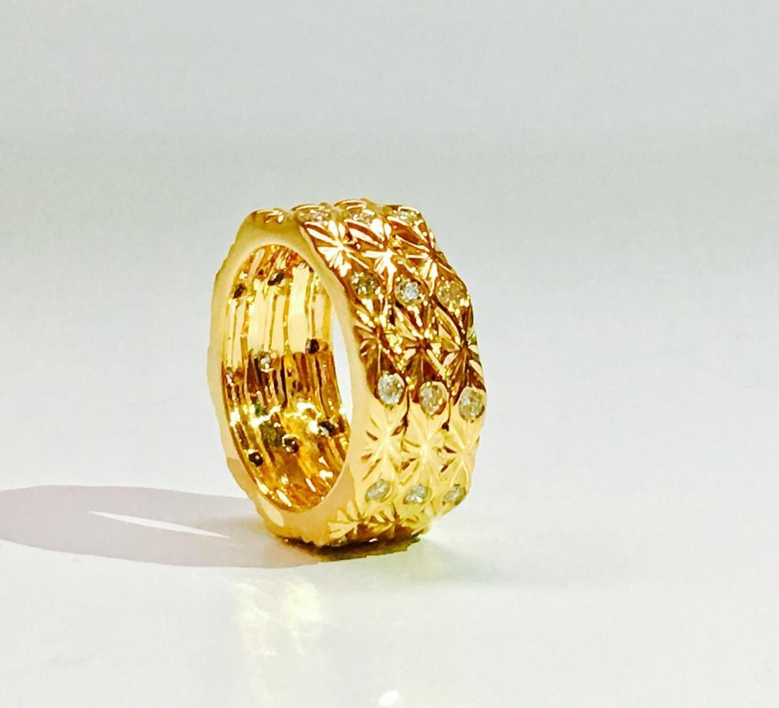 18K yellow gold. 0.75 Carat Diamond ring. BVLGARI style - 4