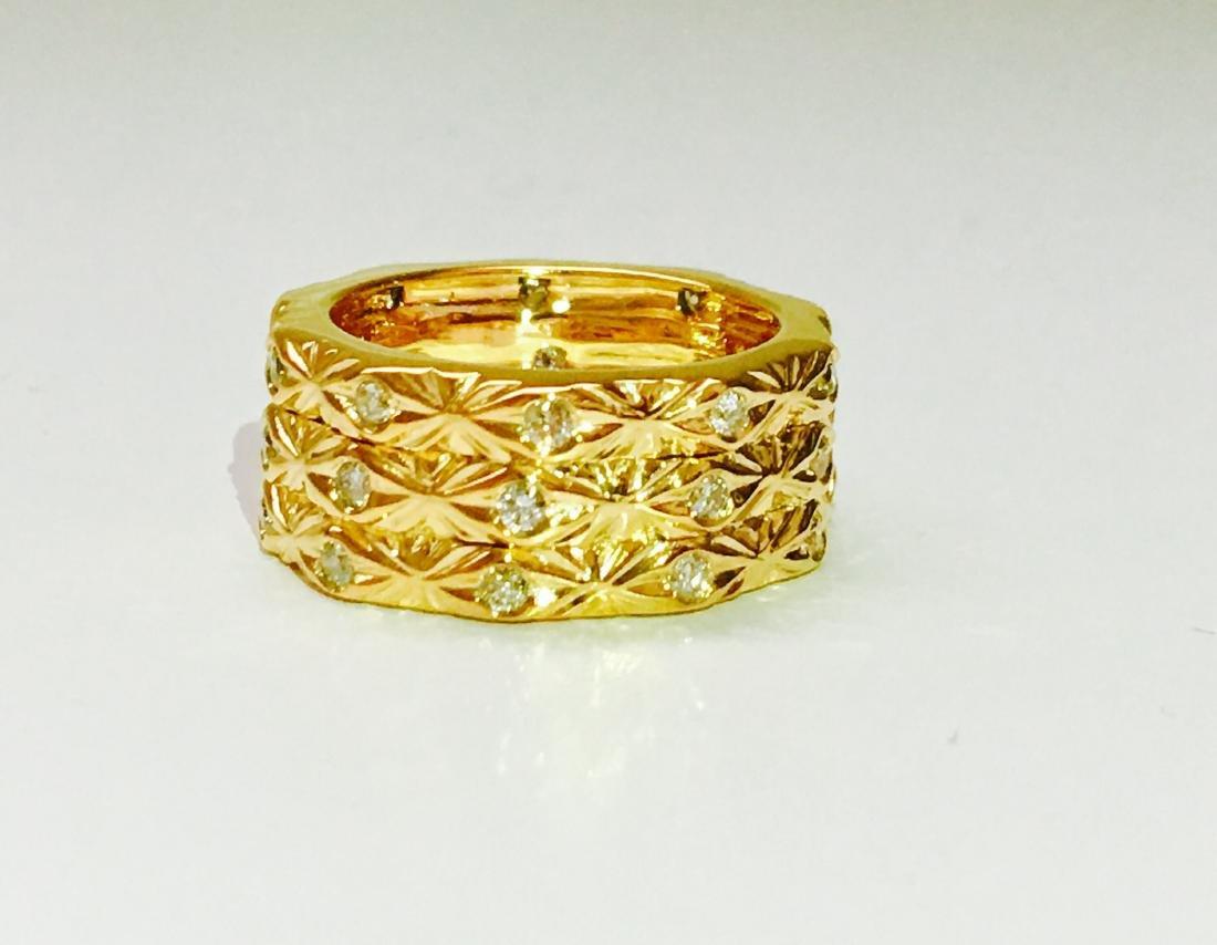 18K yellow gold. 0.75 Carat Diamond ring. BVLGARI style - 5
