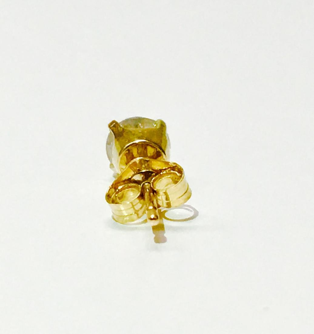 14K yellow gold and 0.45 carat diamond stud - 3
