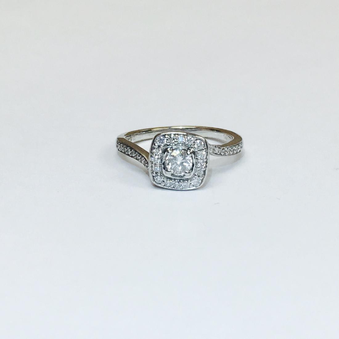 14K White Gold, VS 0.75 Carat Diamond Ring