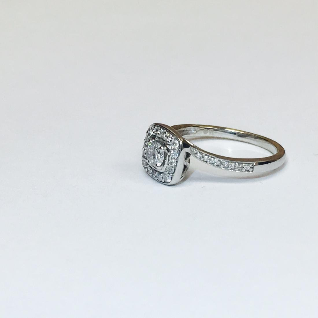14K White Gold, VS 0.75 Carat Diamond Ring - 3