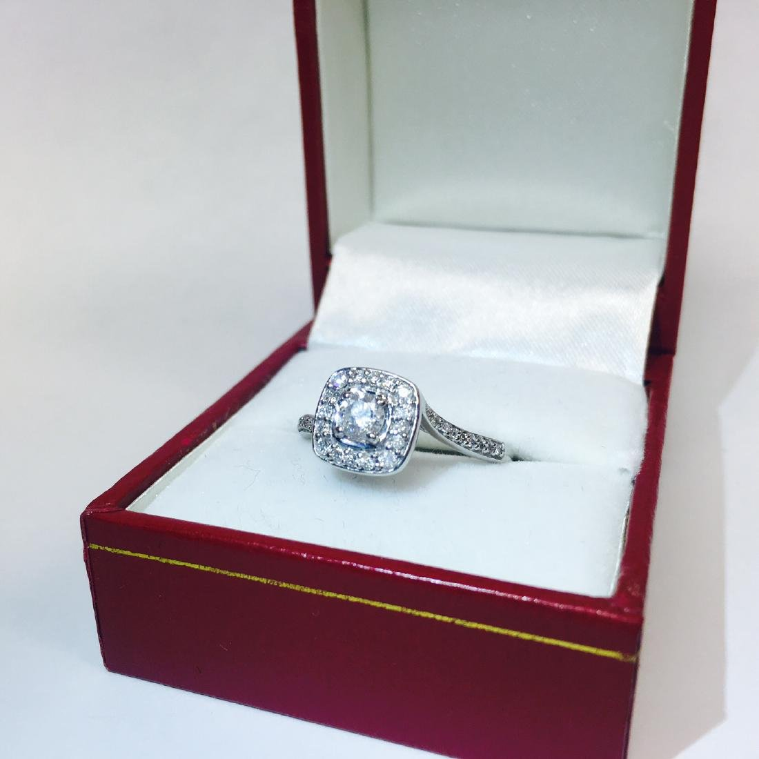 14K White Gold, VS 0.75 Carat Diamond Ring - 4