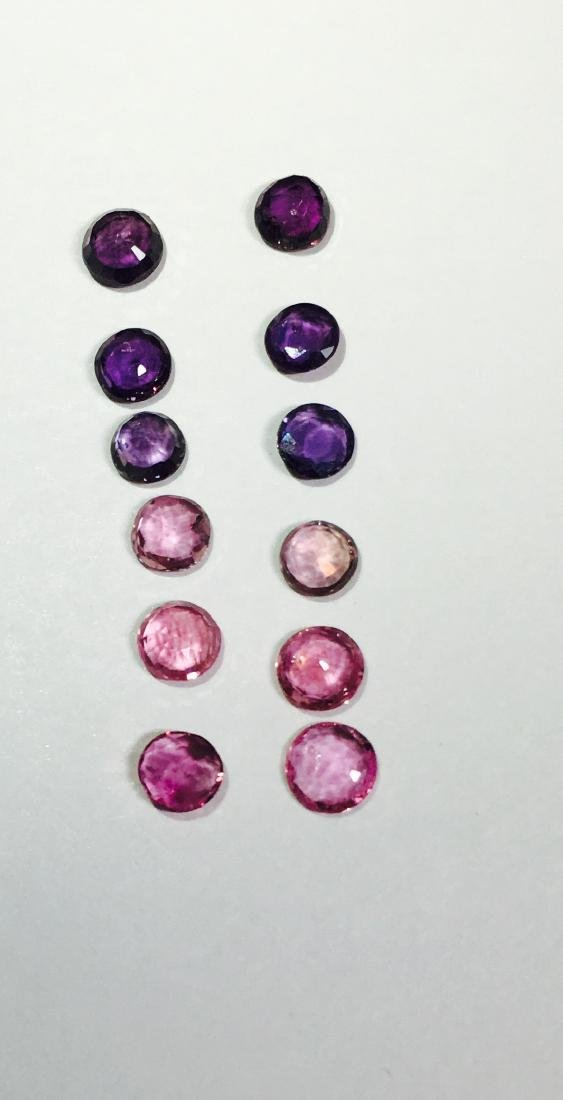 4.85 Carat Color Changing purple and pink Sapphires. - 4