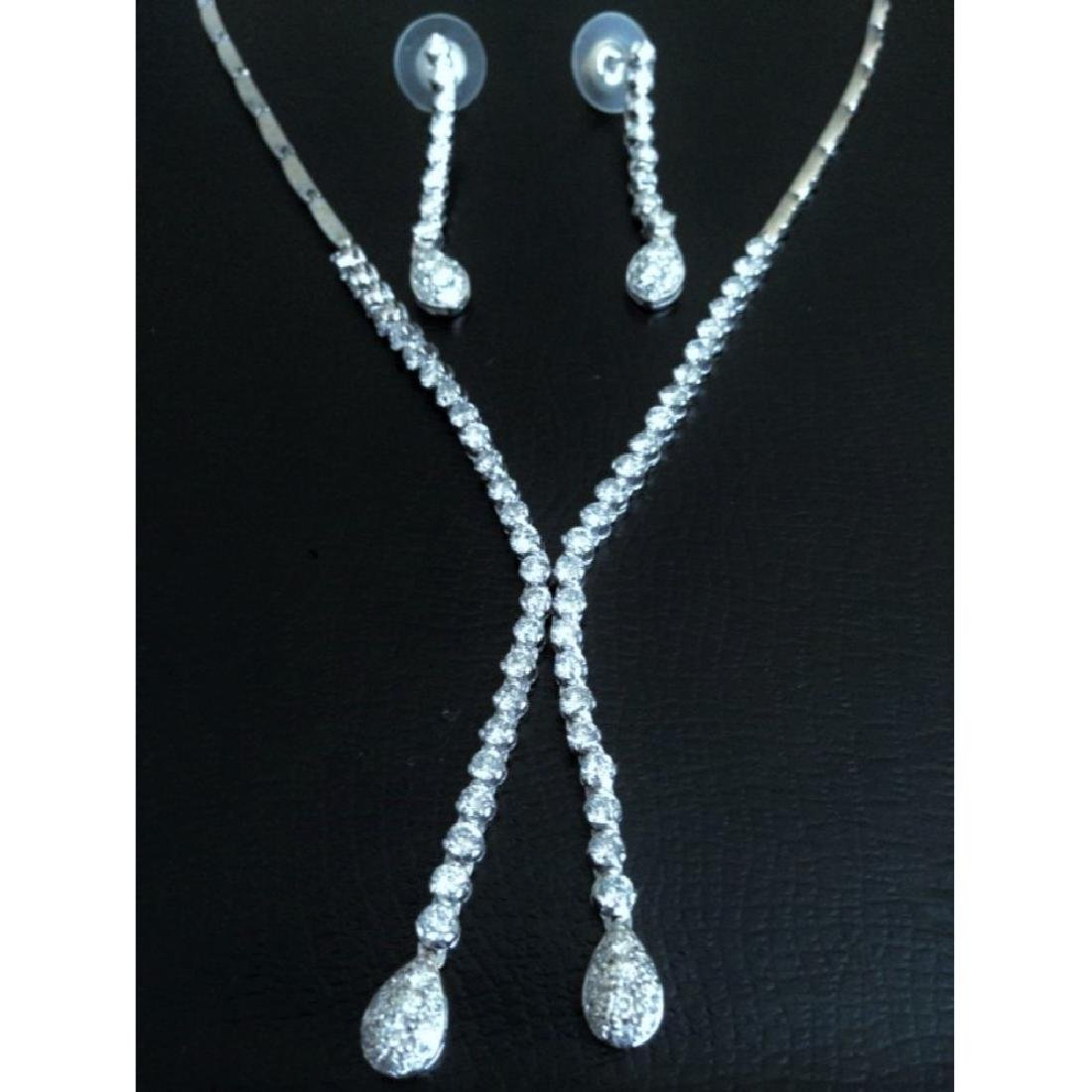 6.00 CARAT Diamond Necklace And Earrings SET $21,500 - 2
