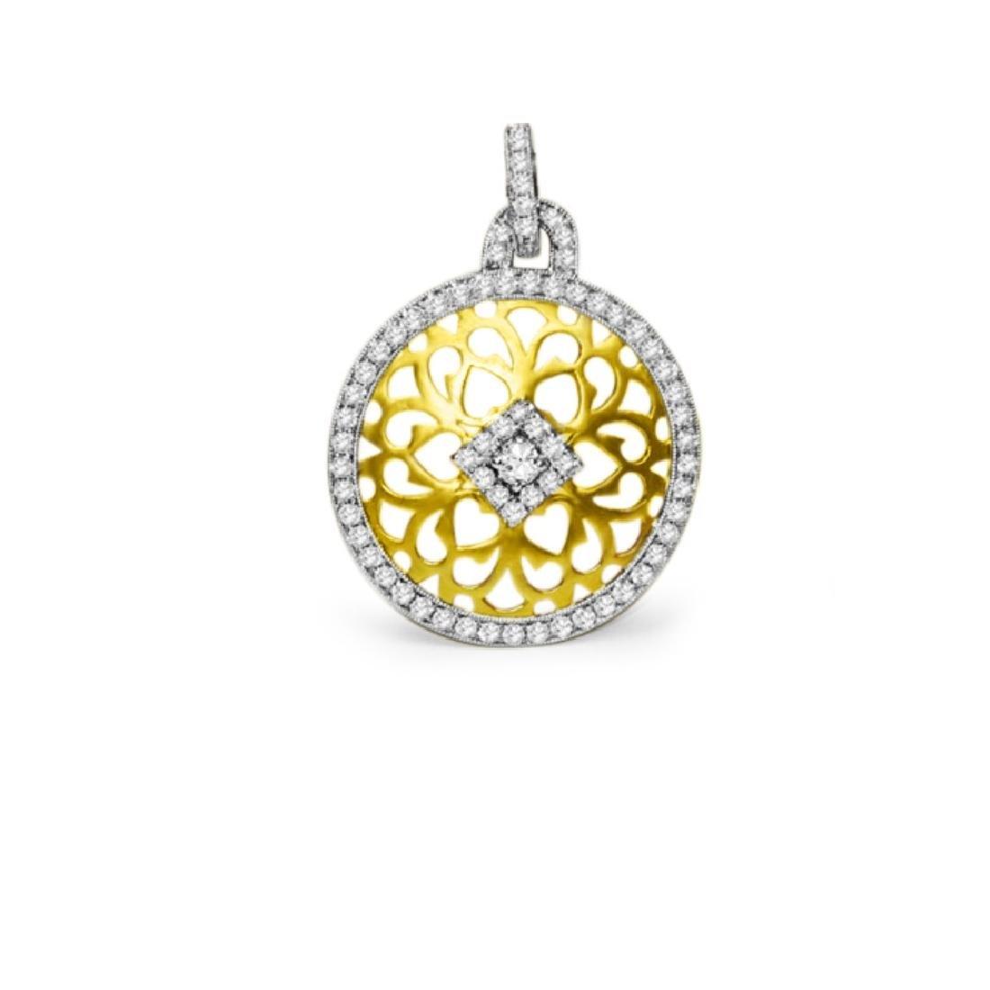 18K YELLOW GOLD & DIAMOND Pendant