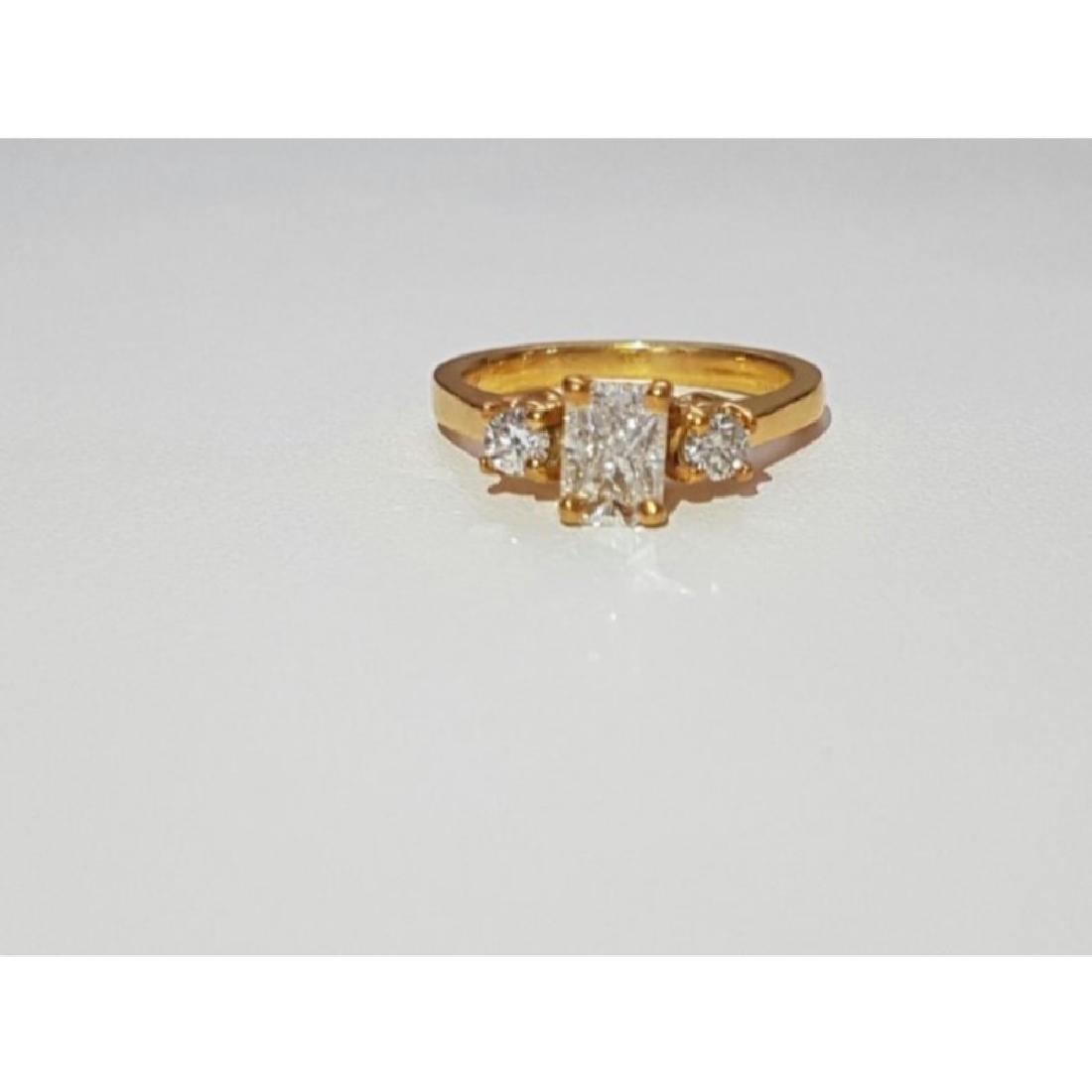 14K Gold and 1.20 Carat VVS White Diamond Ring (GIA)