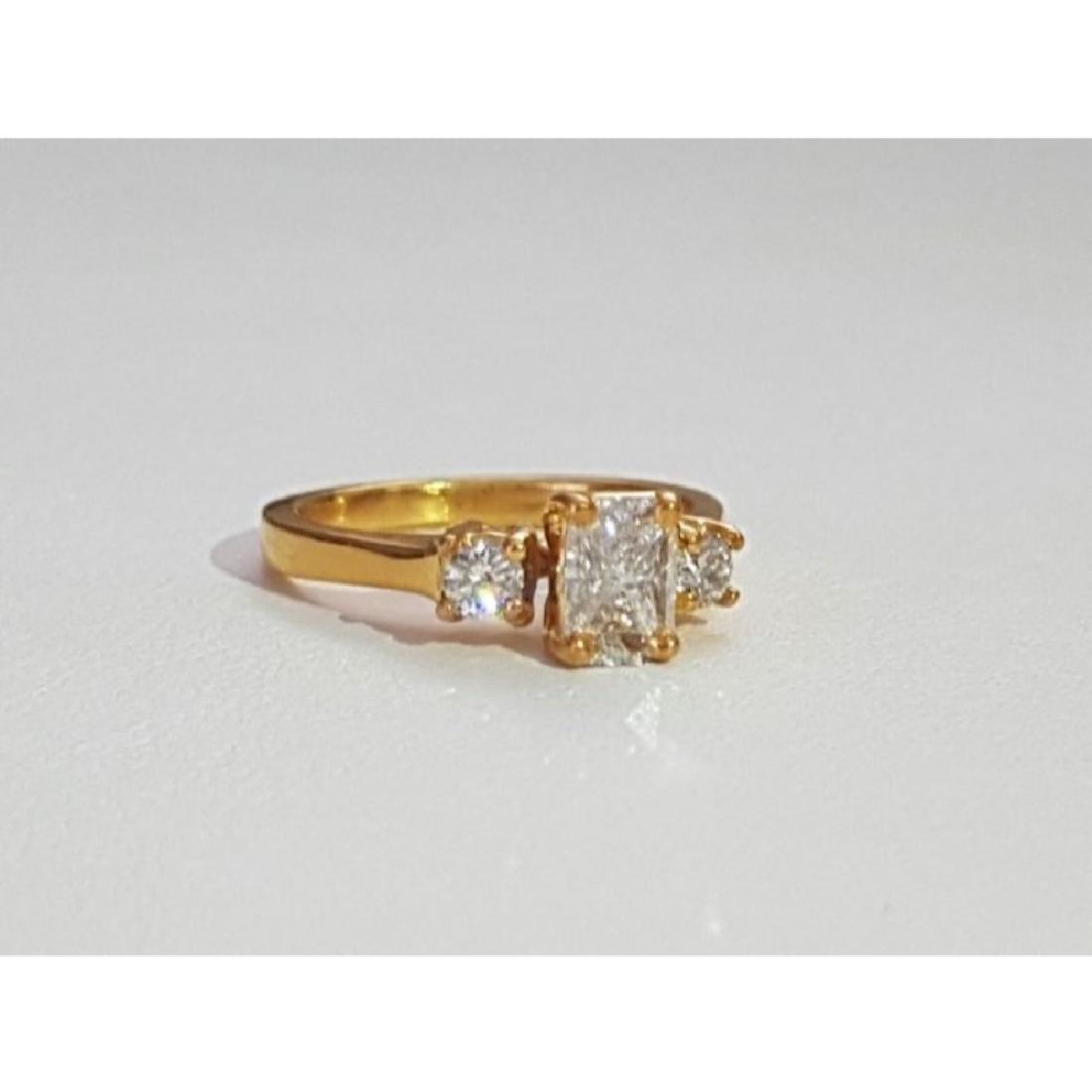 14K Gold and 1.20 Carat VVS White Diamond Ring (GIA) - 2