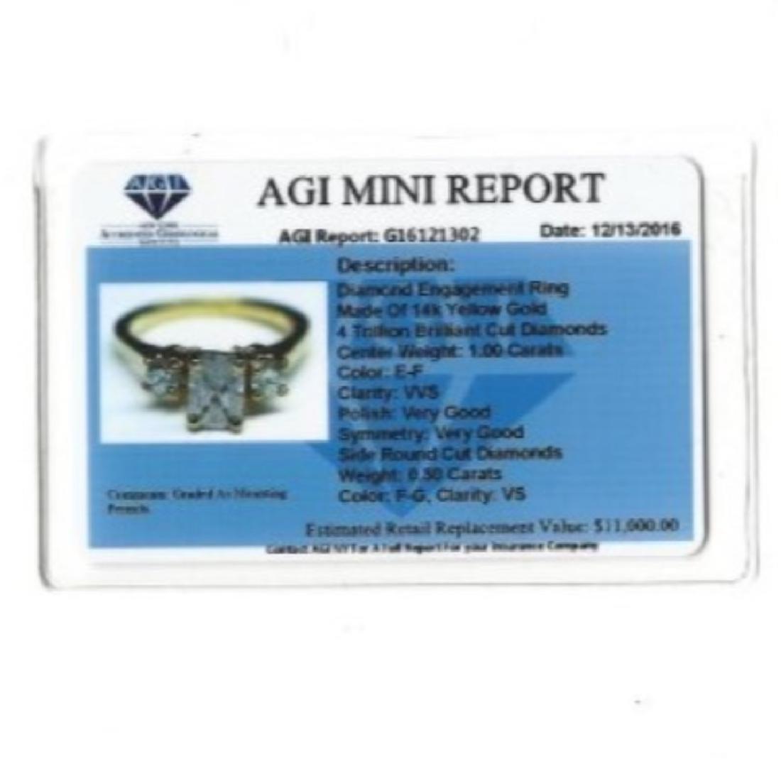 14K Gold and 1.20 Carat VVS White Diamond Ring (GIA) - 3