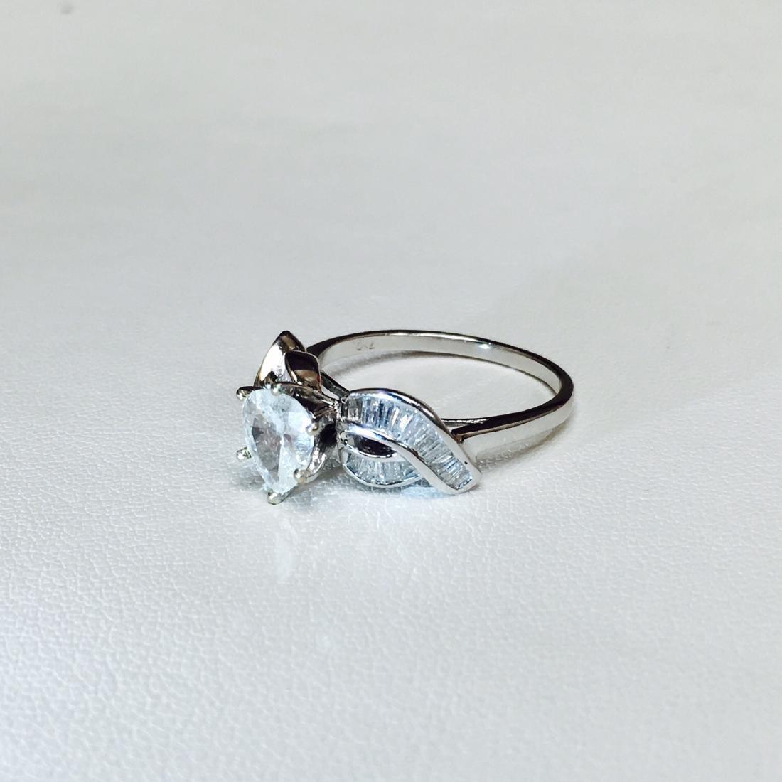 14k White Gold And 1.20 Carat Diamond Engagement Ring - 2