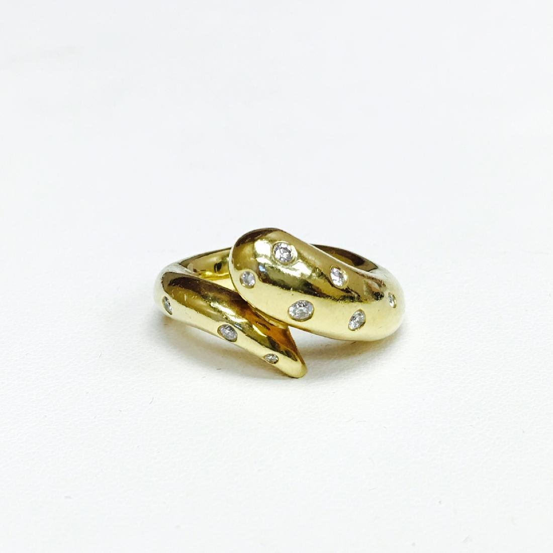 R.F.M.A.S 18k Yellow Gold and White Diamond Ring