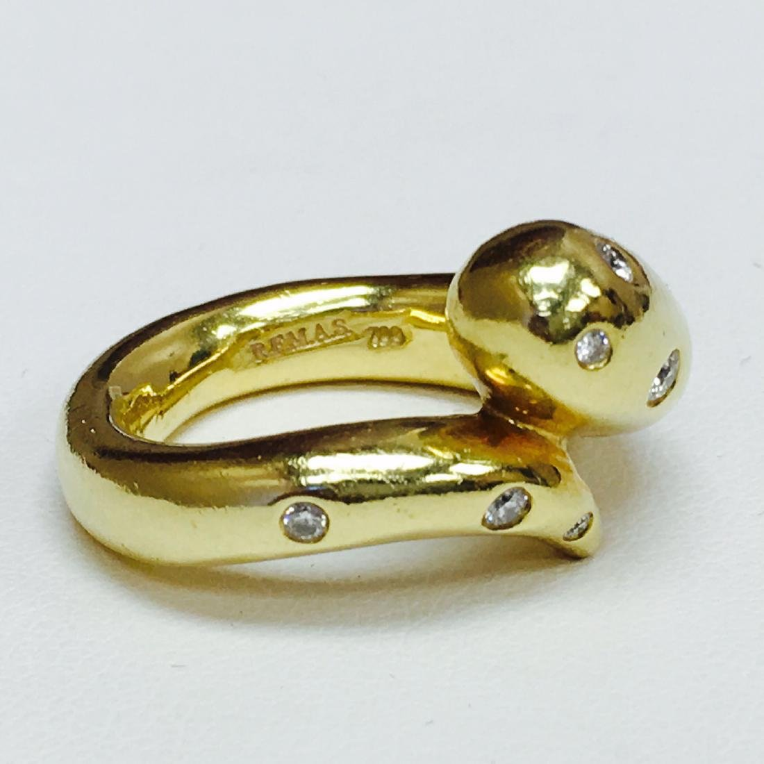 R.F.M.A.S 18k Yellow Gold and White Diamond Ring - 2