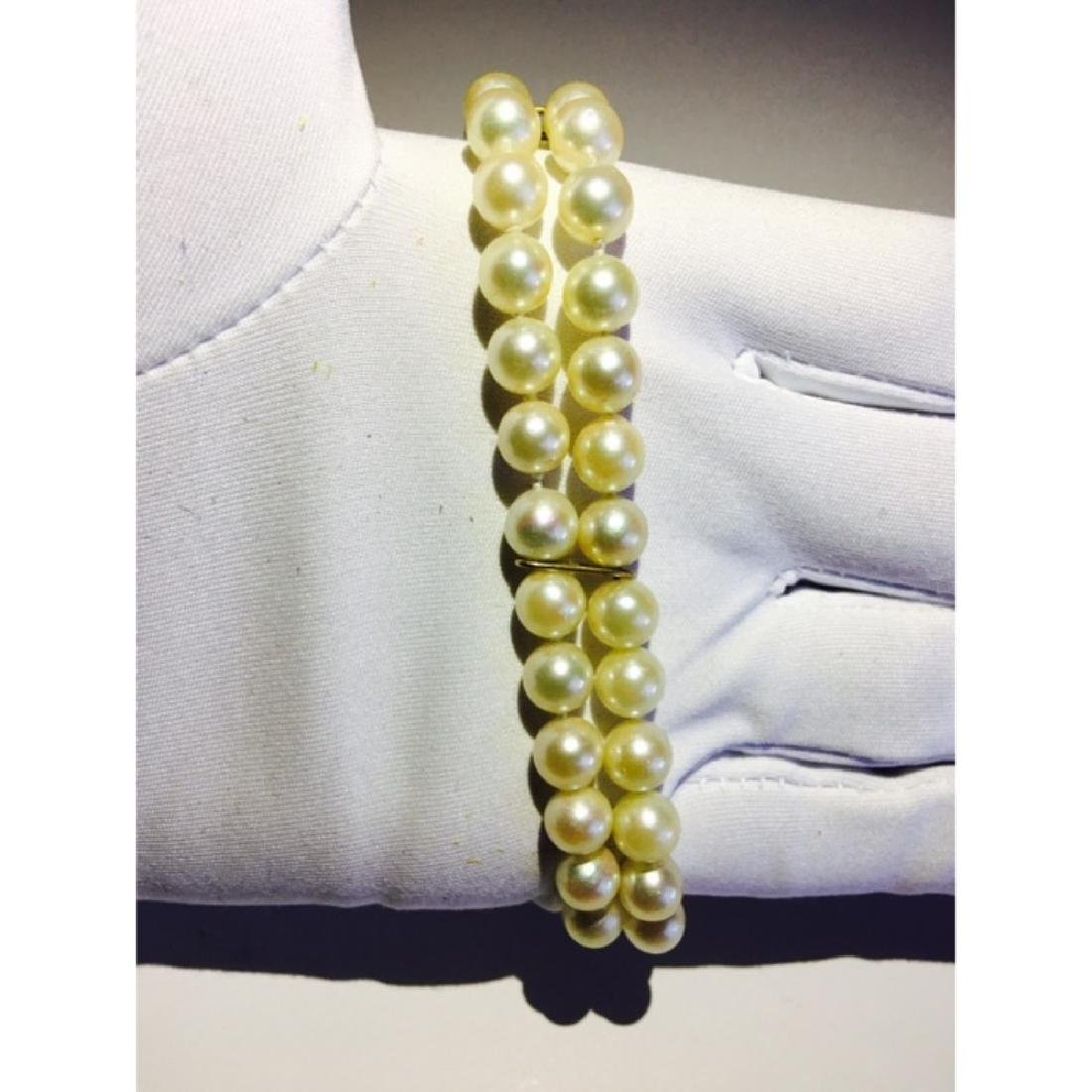 18K, Natural South Sea Pearl and Burma Ruby Bracelet - 3