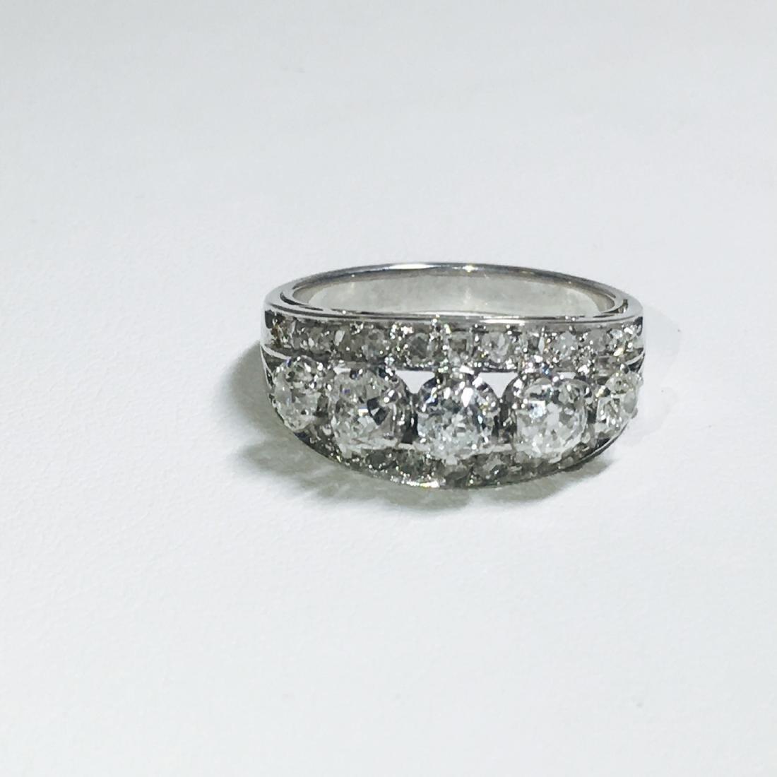 Vintage 18K White Gold, 1.25 CT VS/G Diamond Ring (GIA) - 2