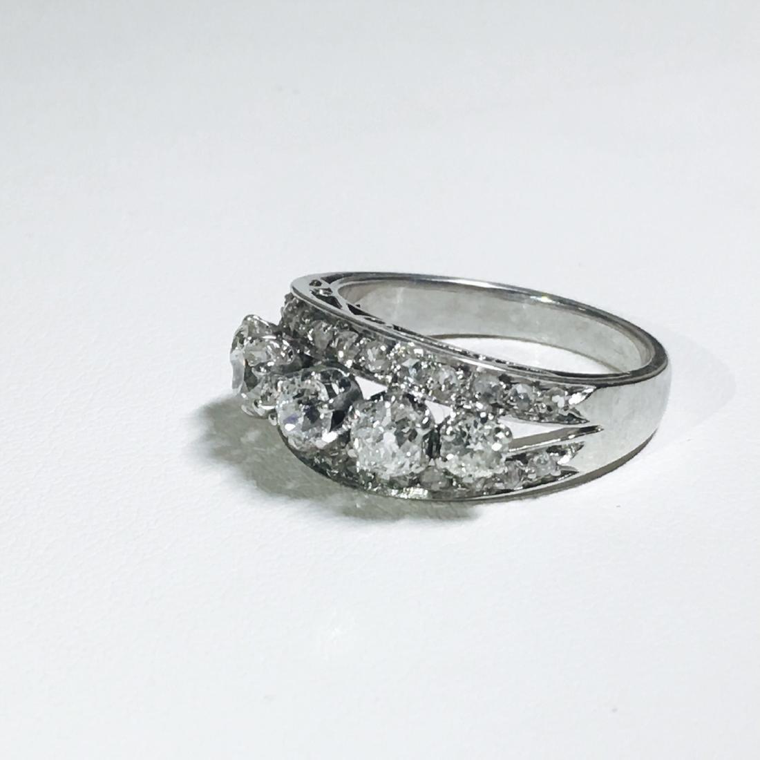 Vintage 18K White Gold, 1.25 CT VS/G Diamond Ring (GIA) - 3