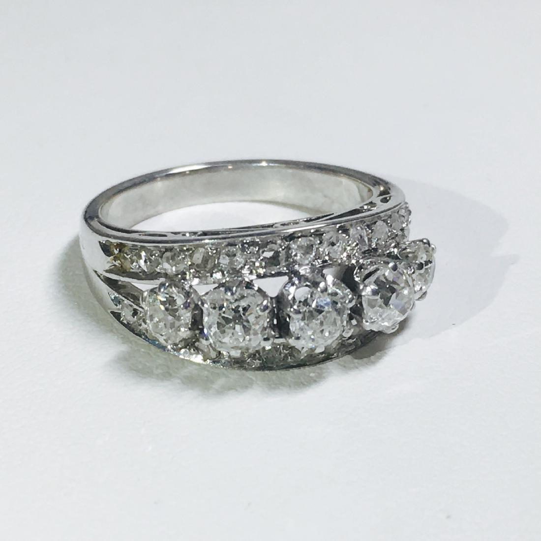 Vintage 18K White Gold, 1.25 CT VS/G Diamond Ring (GIA) - 4