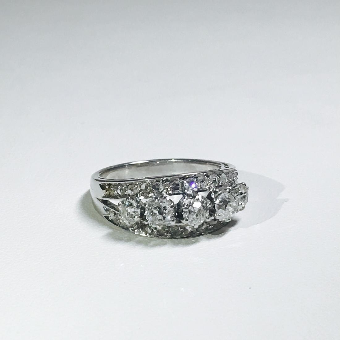 Vintage 18K White Gold, 1.25 CT VS/G Diamond Ring (GIA) - 5