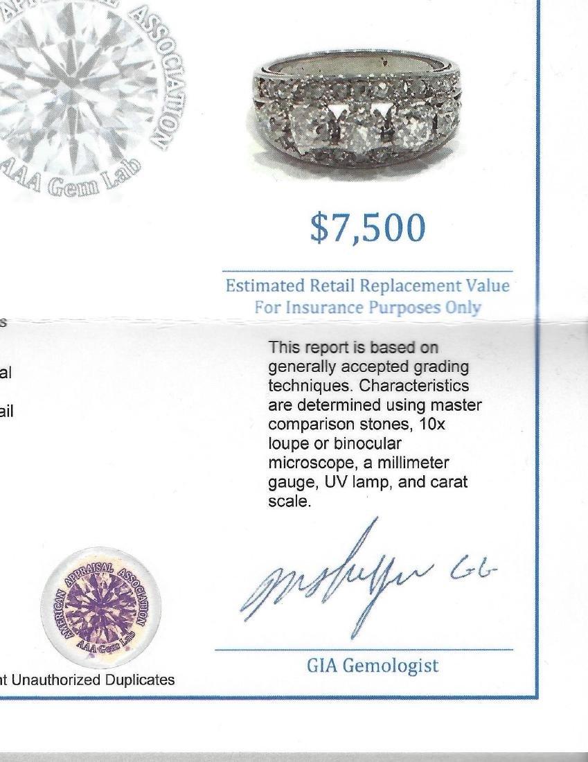 Vintage 18K White Gold, 1.25 CT VS/G Diamond Ring (GIA) - 7