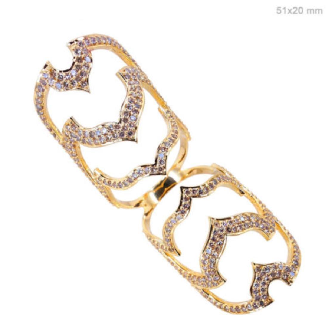 18k Yellow Gold 1.97 Ct Natural Diamond Pave Ring