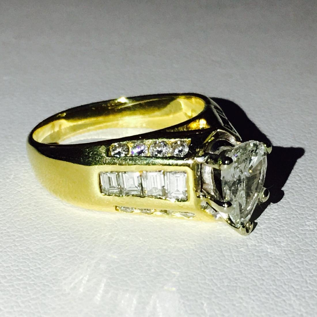 18K Yellow Gold and Diamond Engagement Ring (GIA) - 3