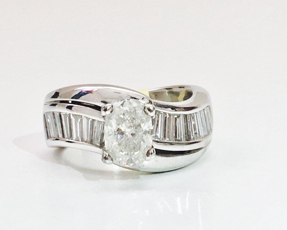 14K GOLD, 2.60 CARAT DIAMOND ENGAGEMENT RING