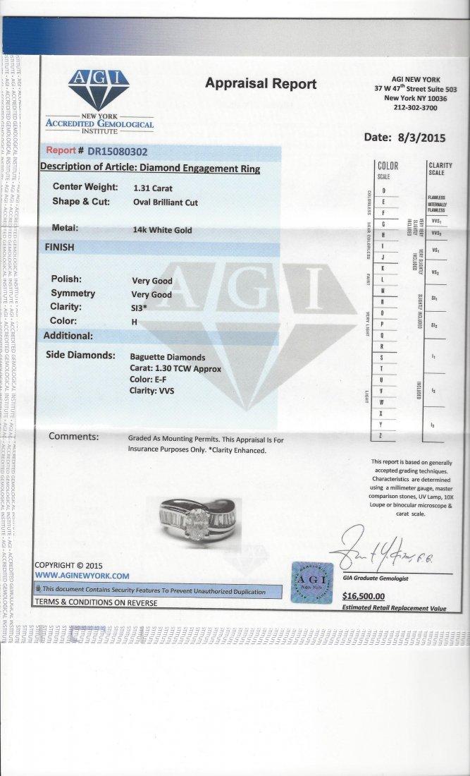 14K GOLD, 2.60 CARAT DIAMOND ENGAGEMENT RING - 5