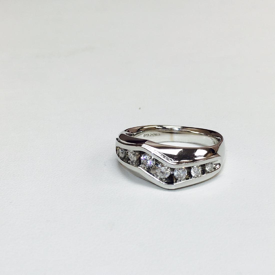 14k White Gold & 1 ct Diamond Band/RING