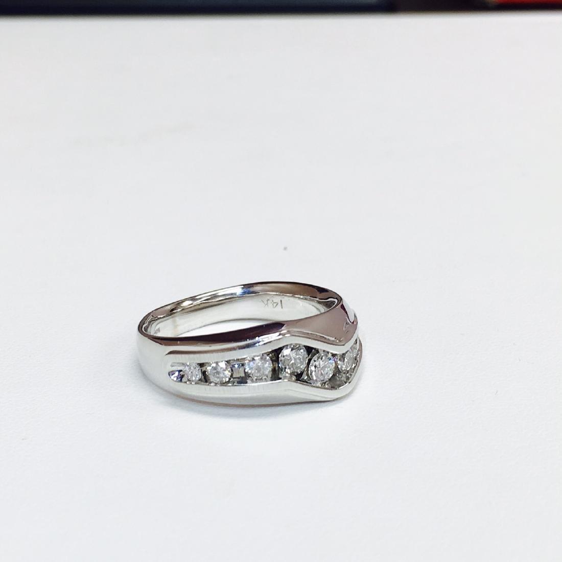14k White Gold & 1 ct Diamond Band/RING - 2