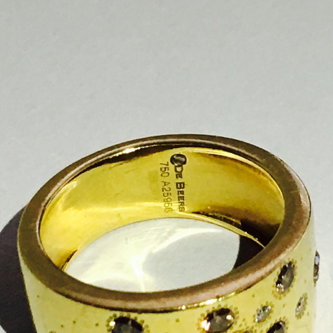 18k Gold ROUGH DIAMOND RING De beers Collection - 3