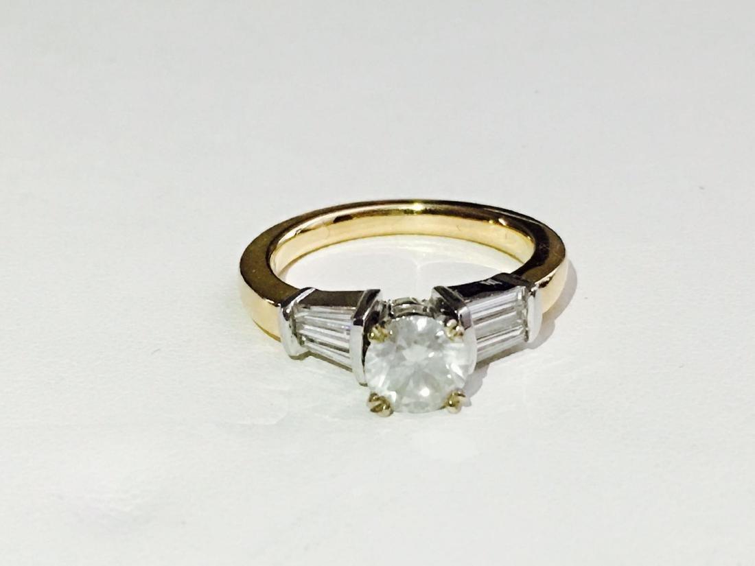14K Yellow Gold, 2.25 CARAT DIAMOND ENGAGEMENT RING