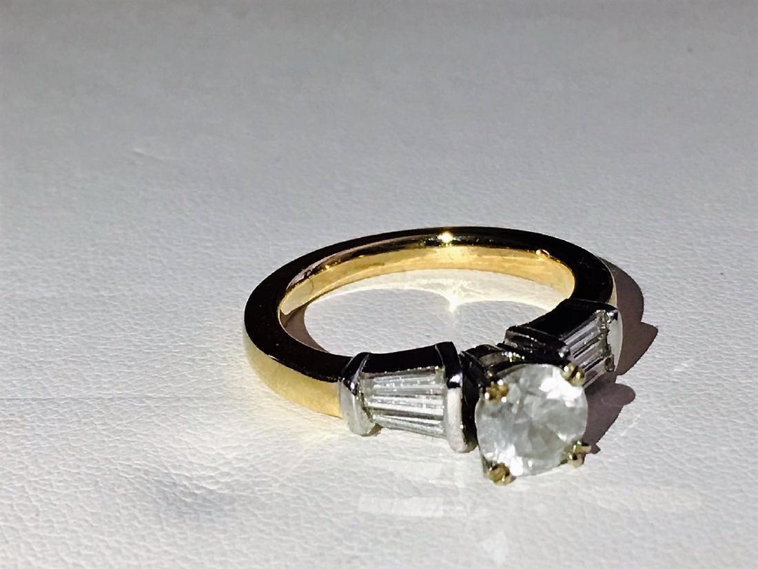14K Yellow Gold, 2.25 CARAT DIAMOND ENGAGEMENT RING - 2