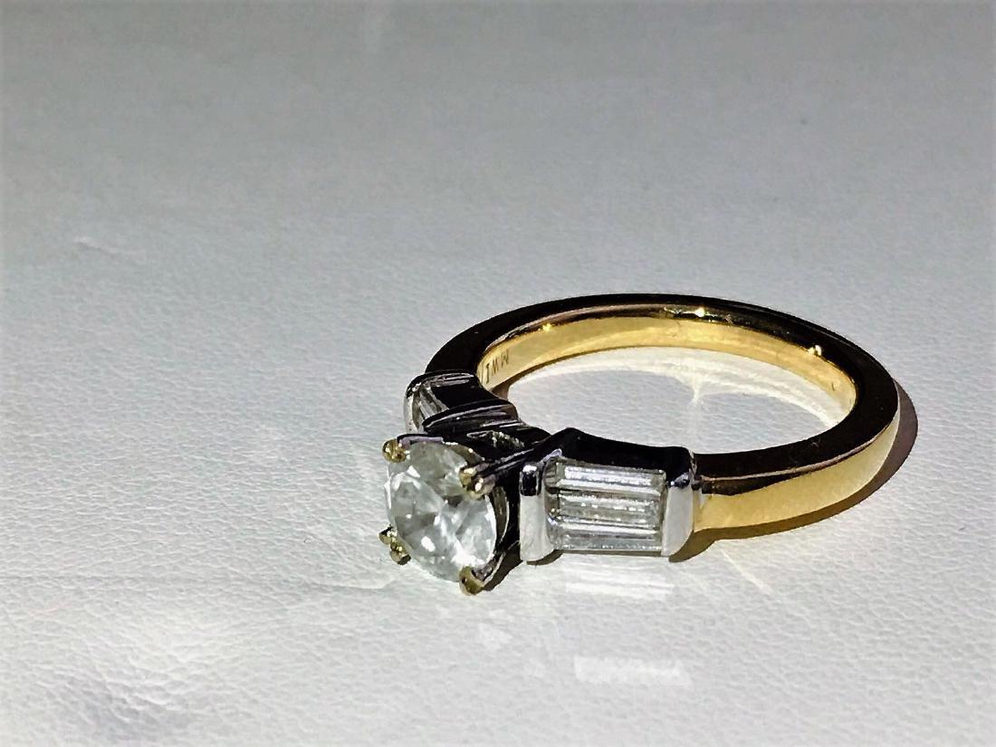 14K Yellow Gold, 2.25 CARAT DIAMOND ENGAGEMENT RING - 3