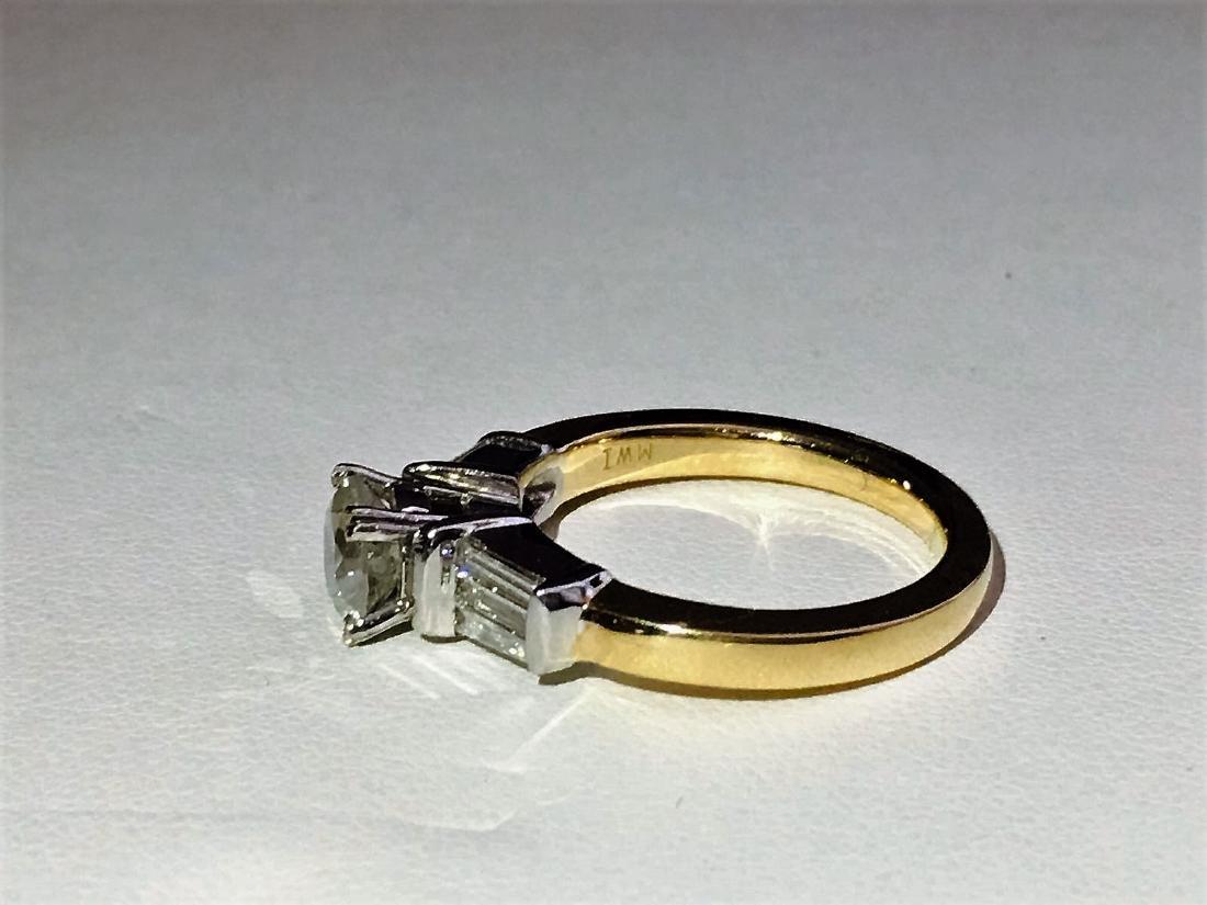 14K Yellow Gold, 2.25 CARAT DIAMOND ENGAGEMENT RING - 4