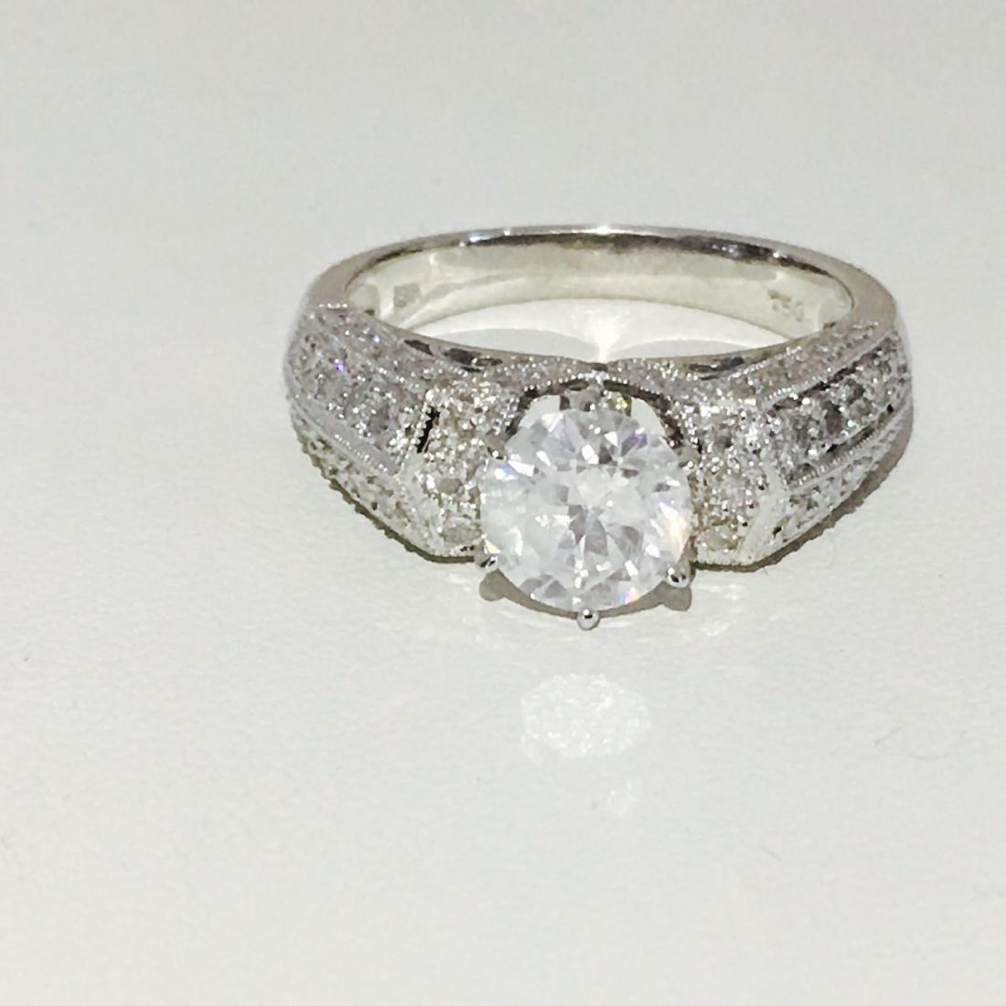 18K White Gold, 2.10 CT Diamond Engagement Ring