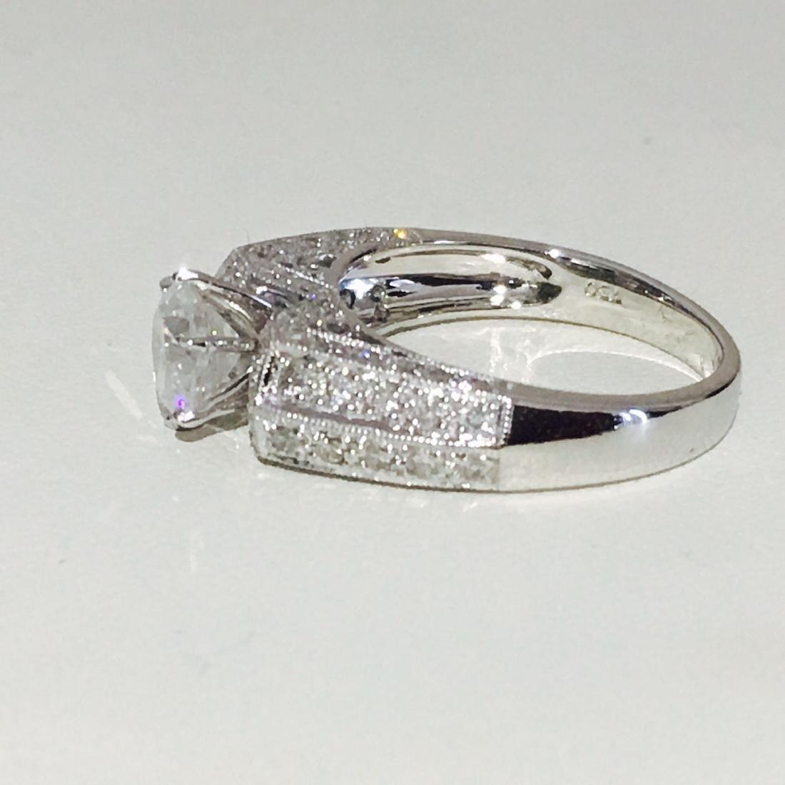 18K White Gold, 2.10 CT Diamond Engagement Ring - 2