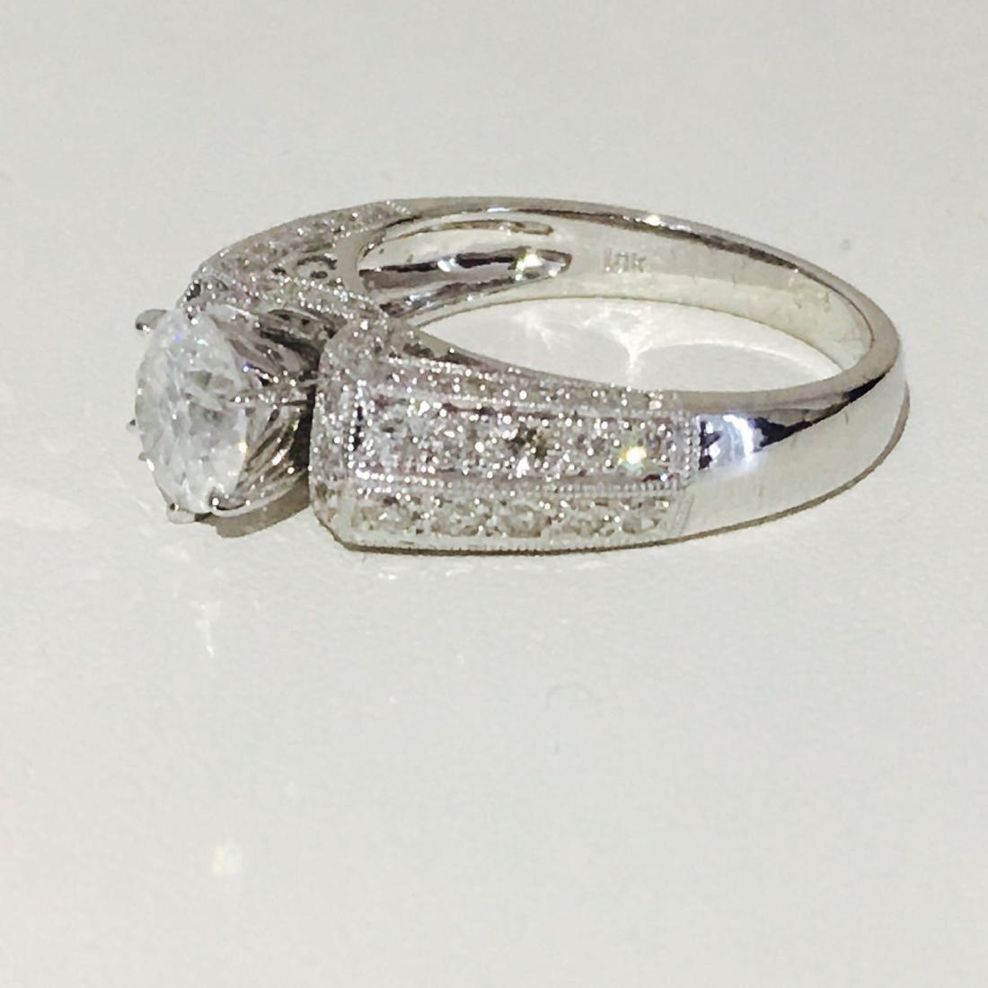 18K White Gold, 2.10 CT Diamond Engagement Ring - 3