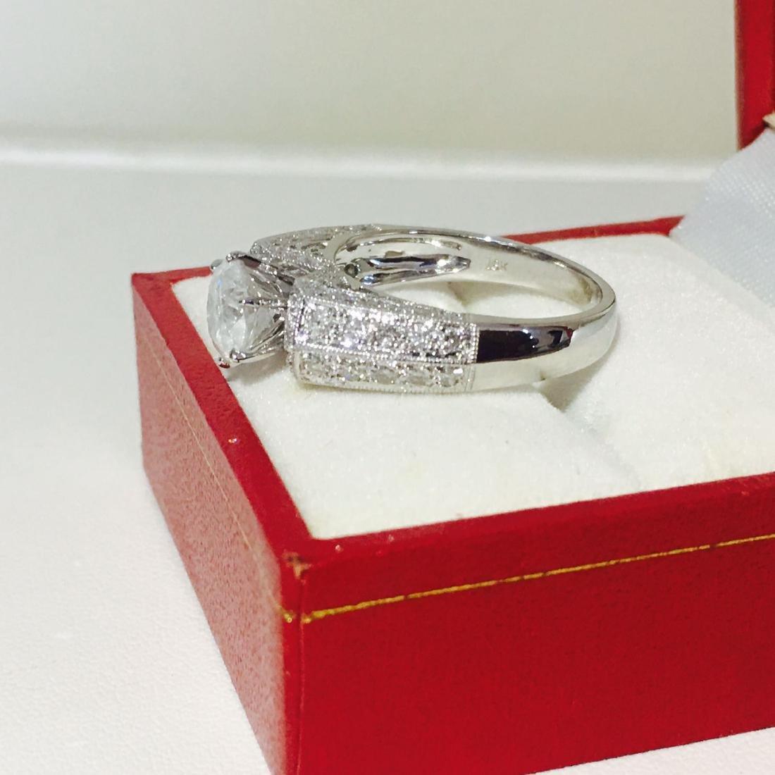 18K White Gold, 2.10 CT Diamond Engagement Ring - 7