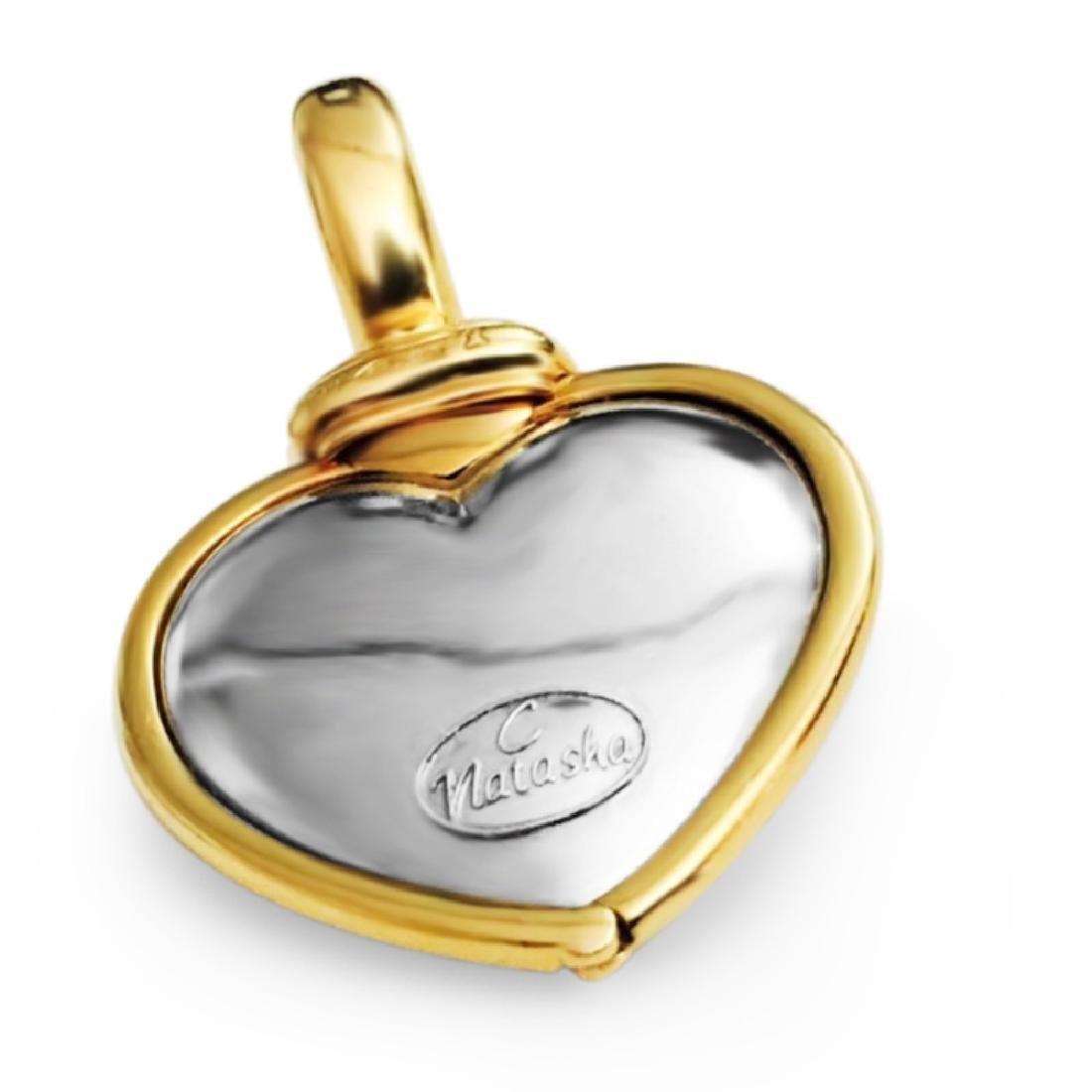 18k Gold Natasha C Diamond Pendant VVS CLARITY DIAMONDS - 3