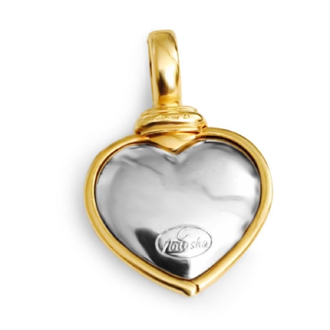 18k Gold Natasha C Diamond Pendant VVS CLARITY DIAMONDS - 5