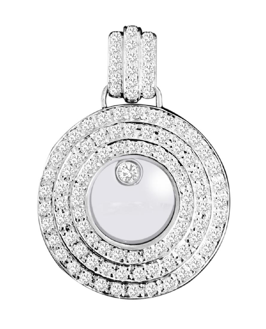 Chopard Style, 3.50 carats VVS Diamond Pendant.