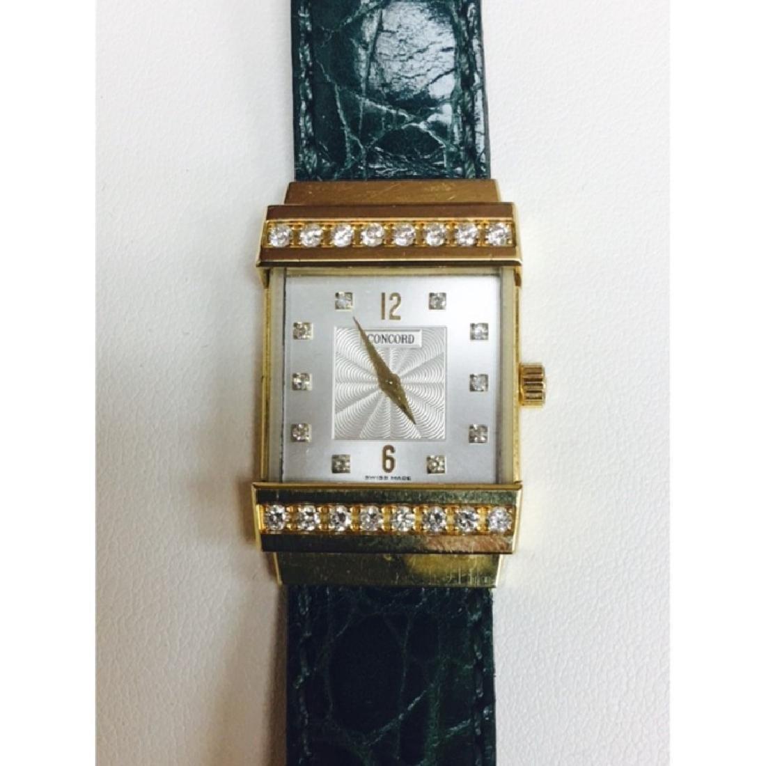 Concord Crystale 18K Gold VVS DIAMONDS Watch