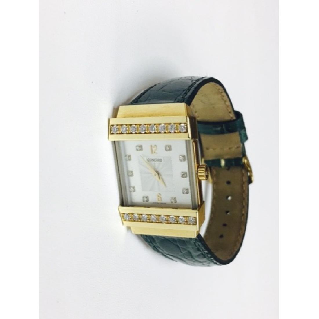 Concord Crystale 18K Gold VVS DIAMONDS Watch - 5