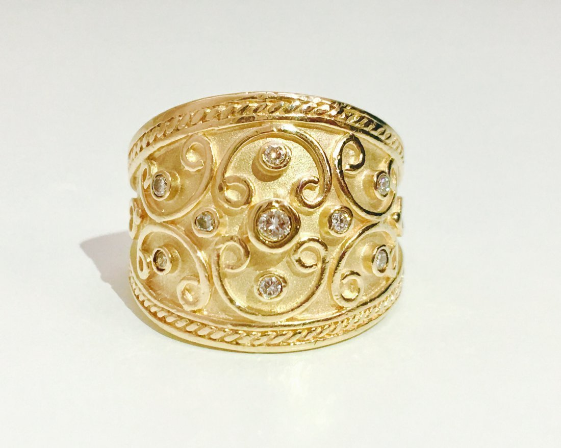 Vintage 14K Yellow Gold and RBC Diamond Ring