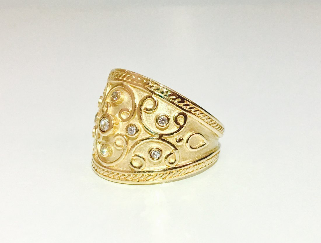 Vintage 14K Yellow Gold and RBC Diamond Ring - 3