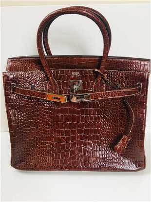 Authentic Hermes Orange Togo Leather Bolide Bag 9c80baf86d16a