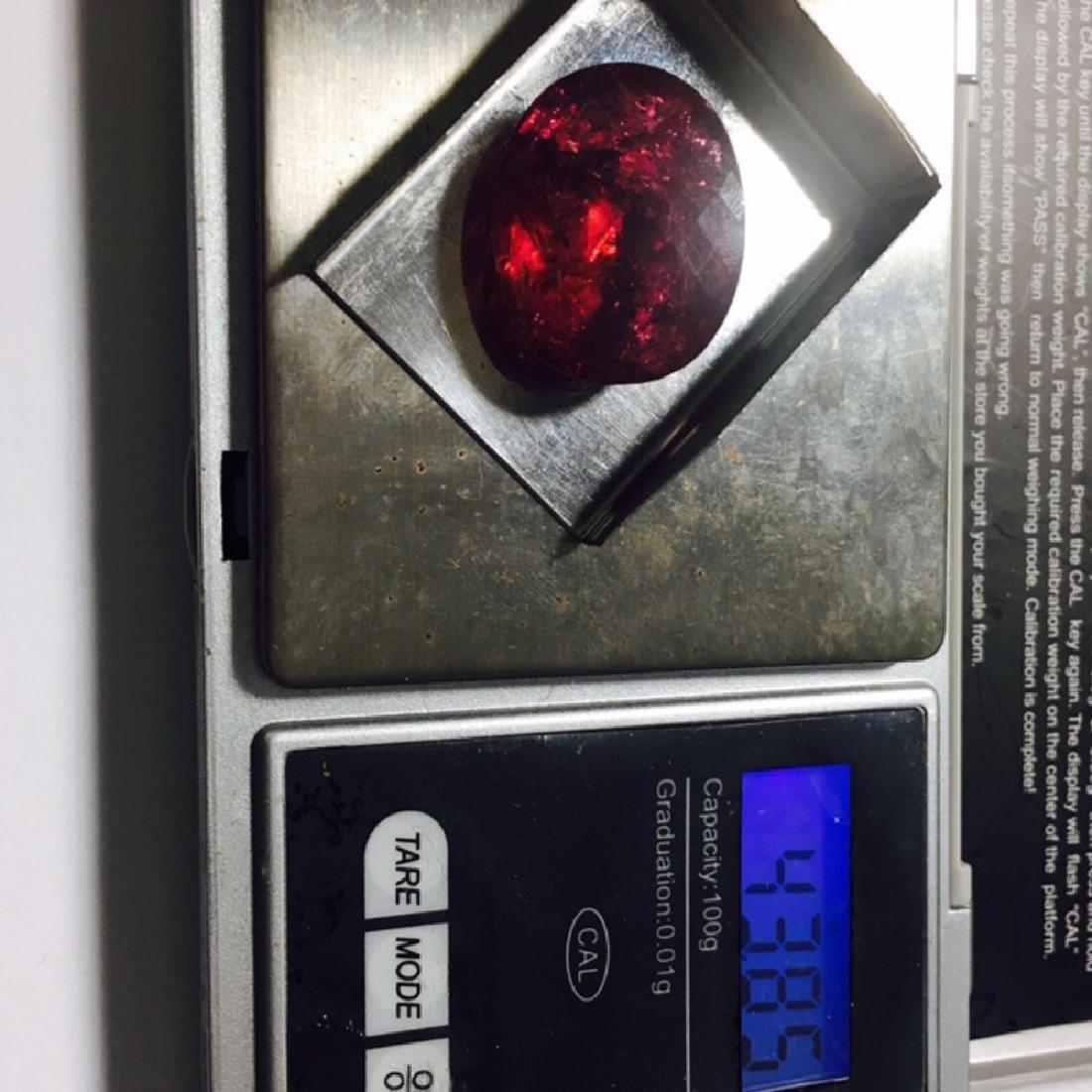 100% Natural 43.85 Carat Rubellite Loose Stone - 3