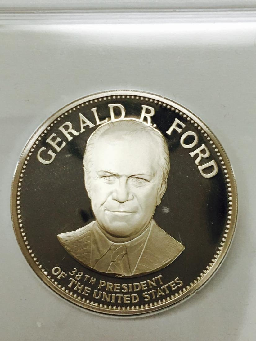 Gerald Ford Sterling Silver Franklin Mint Coin 1975
